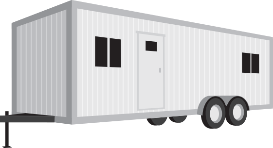 Towable office trailers provide mobile office space for your business or on-site convenience while providing comfortable protection from the elements.
